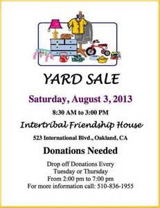 flyersup yard sale at intertribal friendship house