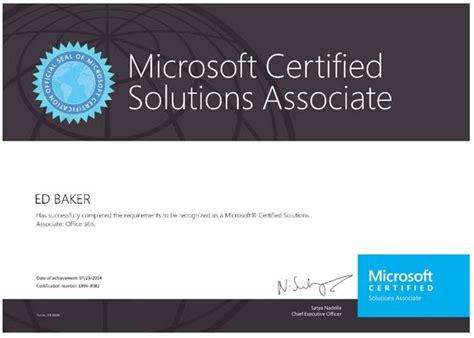 Office 365 Certification Office 365 Mcsa Post Feedback Blogg Ed