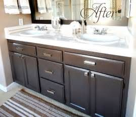 painted bathroom cabinets ideas budget bathroom makeover linky centsational