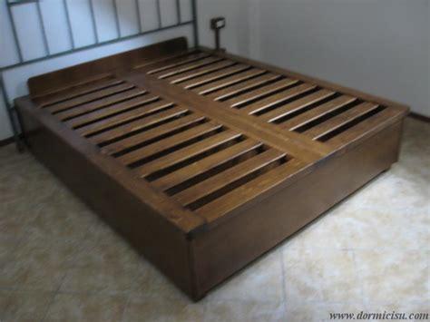 letto in legno massello letto contenitore in legno massello rinforzato dormicisu