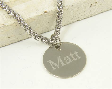 engraved s necklace custom name necklace stainless