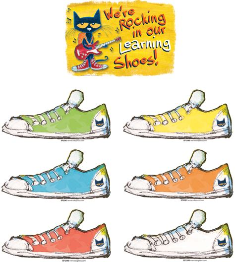 pete the cat sneakers pete the cat we re rocking in our learning shoes bulletn