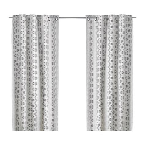 white and tan curtains henny rand curtains 1 pair white brown gray 57x98 quot ikea