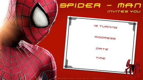printable birthday cards spiderman awesome free printable blank spiderman birthday invitation