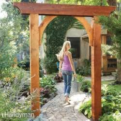 garden arch plans build a garden arch the family handyman