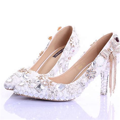 Pointed Toe High Heels New Arrival White Pearl Wedding