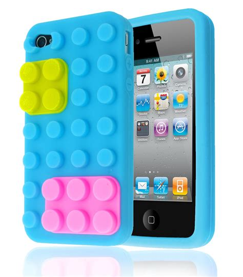 3d Building Blocks Brick Style Soft Silicone Iphone 6 Black 3d building blocks lego brick soft silicone stand cover for apple iphone 4s ebay