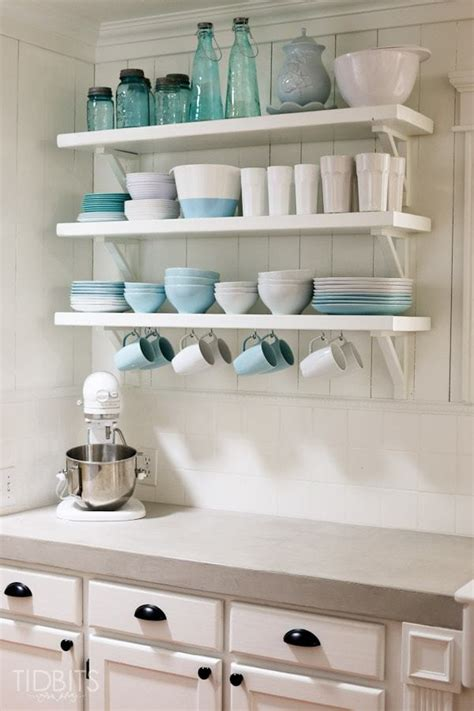 skillful ideas kitchen shelving beautiful design hate open these diy feather finish concrete countertops and how they
