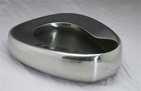 bed pan stainless steel bedpan by medline