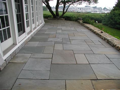 Flagstone Patio Design by Bluestone Patio Designs Landscaping Gardening Ideas