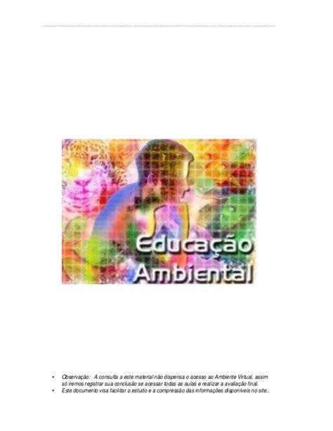 dispensa virtual apostila de educa 231 227 o ambiental