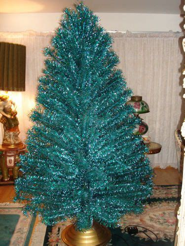 vintage emerald green blue 7 ft stainless aluminum holiday