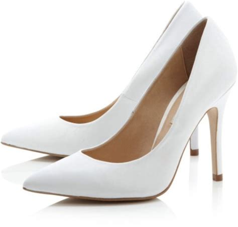 white high heel shoes shoes white high heels court heels white pointy toe