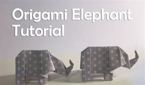 Elephant Origami Tutorial - origami elephant tutorial mytutorlist