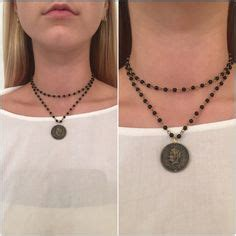 Layer Wrap Choker Black Necklace Kalung Handmade this wrap necklace is made with authentic black