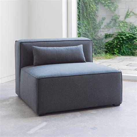 armless loveseat bench mix modular armless chair chairs gus modern