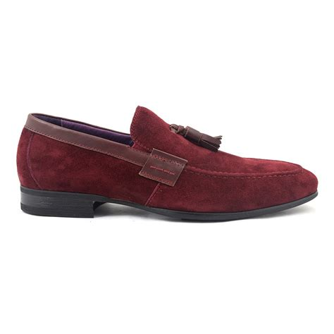 burgundy loafers for buy burgundy suede tassel loafer gucinari mens loafers