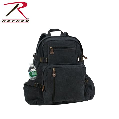 Canvas Backpack Black rothco jumbo vintage canvas backpack black