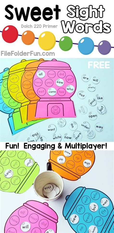 free printable dolch word games free printable sight words game for kindergarten sweet