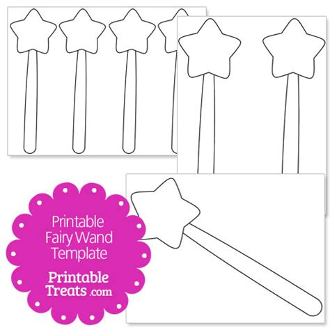 printable fairy wand template printable treats com