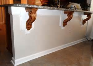 Kitchen Island Corbels Modified Bar Corbels Add Touch To Contemporary Kitchen Space Osborne Wood