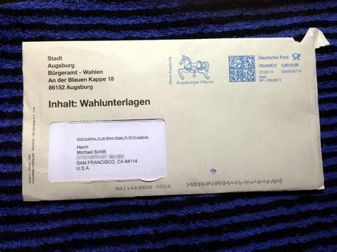 Antrag Briefwahl Deutschland Briefwahl Aus Dem Ausland