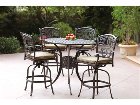 darlee cast aluminum outdoor patio round square bar stool darlee outdoor living series 30 antique bronze cast