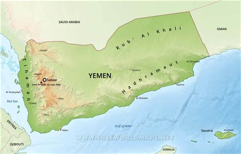 yemen physical map