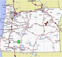 oregon state highway map image gallery oregon road map
