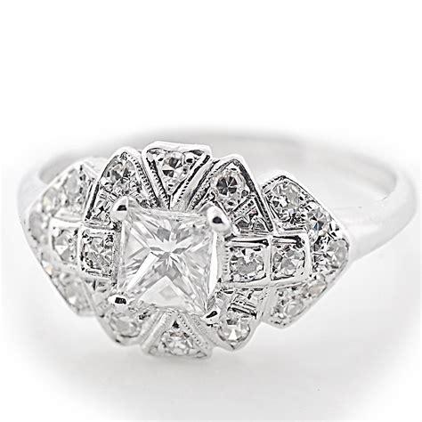 princess cut platinum engagement ring