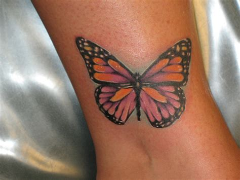 cool butterfly tattoos design on wrist for girls