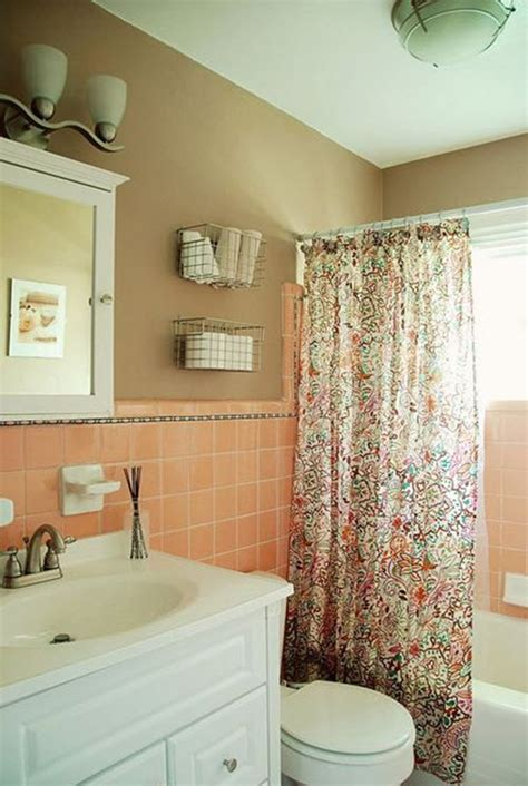 peach bathroom decor 36 retro pink bathroom tile ideas and pictures