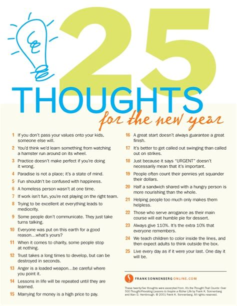 new year thoughts quotes 25 thoughts for the new year