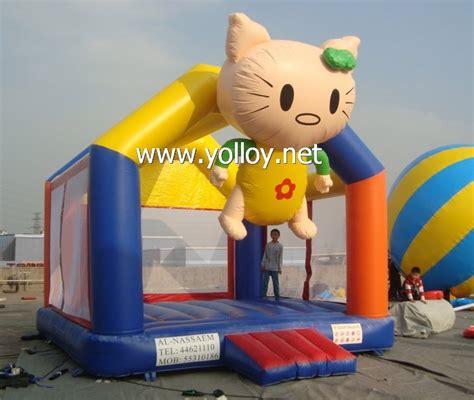 yolloy moonwalk kello kitty inflatable bouncer house  sale