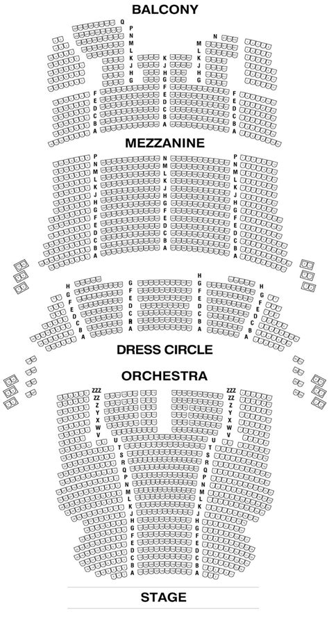 bank of america theater seating cibc theatre seating chart theatre in chicago