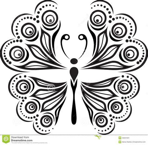 imagenes mariposas siluetas silueta delicada de la mariposa dibujo de l 237 neas y de