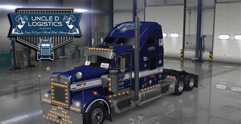 2016 kenworth w900 uncle d logistics 2016 kenworth w900 mod for ats mod