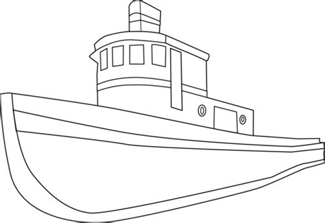 coloring page house boat ship outline cliparts co