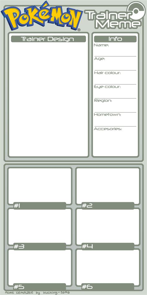 master trainer card template trainer meme template by kuching sama on deviantart