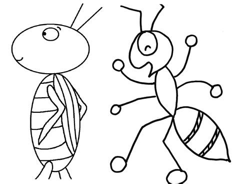 preschool grasshopper coloring pages free coloring pages of ant and the grasshopper