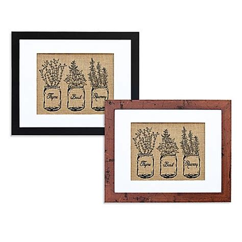 bed bath beyond wall decor kitchen herbs burlap wall art bed bath beyond