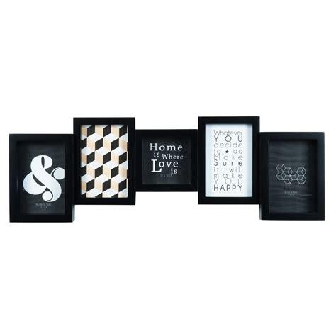 cornice x foto cornice foto nera a 5 immagini 20 x 61 cm square maisons