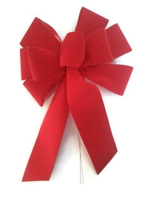 small red velvet bows 10 large 10 quot made bows velvet indoor outdoor wreath ribbon ebay