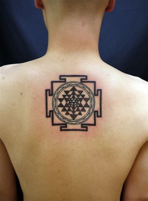 yantra line art tattoos pinterest