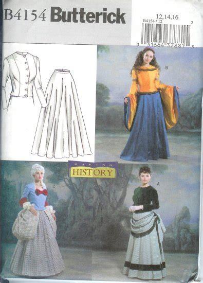butterick pattern history b4154 butterick pattern history costumes misses size 12 14 16