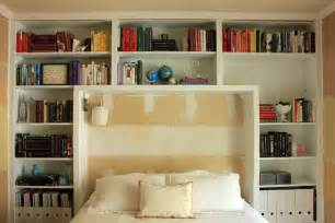 guest bedroom books on shelves our humble abode