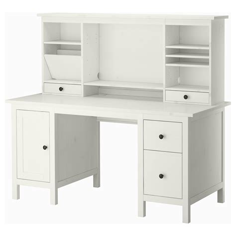 hemnes desk with add on unit white stain white stain