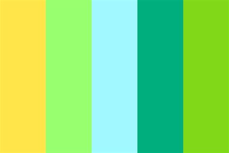 blue green colors blue green yellow color palette