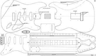 Strat Template by Strat Da Ara Guitars