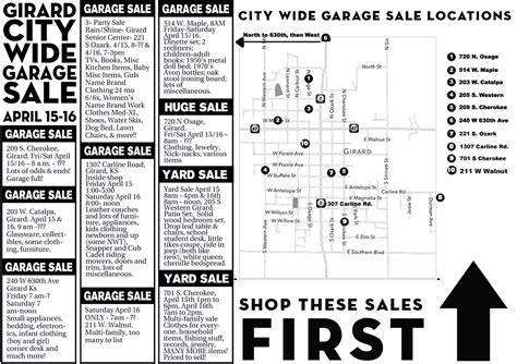 City Wide Garage Sales In Kansas by Girard City Wide Garage Sale April 15 16 Hometown Girard